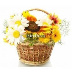 Slunečnice v košíku