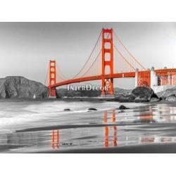 Pláž a Golden Gate Bridge, San Francisco