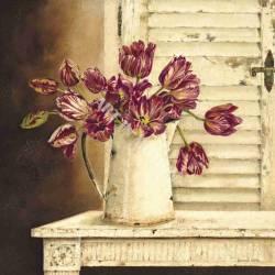 Zátiší s tulipány