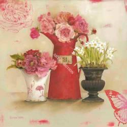 Červené květy ve váze