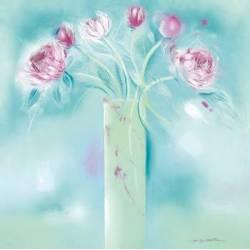 Květy v modrém pozadí II