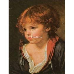 Portrét chlapce 2, obraz na desce