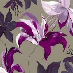Fialové květy 2, obraz na desce