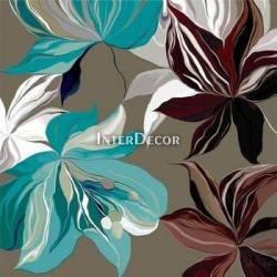 Tyrkysové květy 2, obraz do bytu