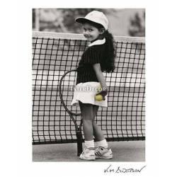 Holčička při tenise