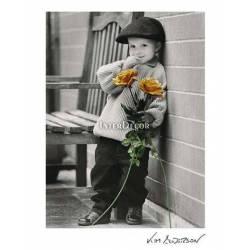 Kluk s růžemi