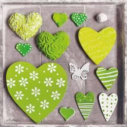 Zelená srdíčka 1
