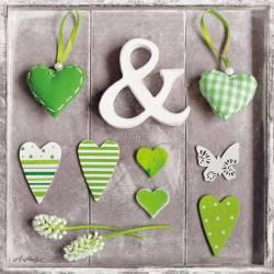 Zelená srdíčka 2
