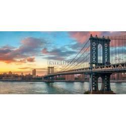 Manhattan Bridge při západu slunce
