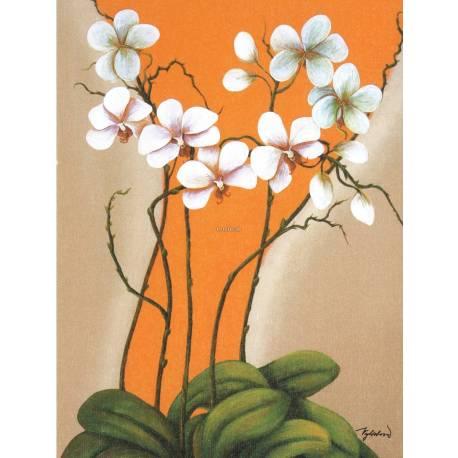 Oranžová orchidej