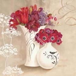 Červené květy ve váze 3