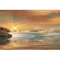 Západ slunce nad mořem I