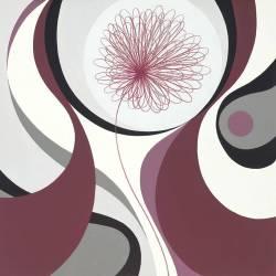 Abstraktní květ 3 obraz na desce