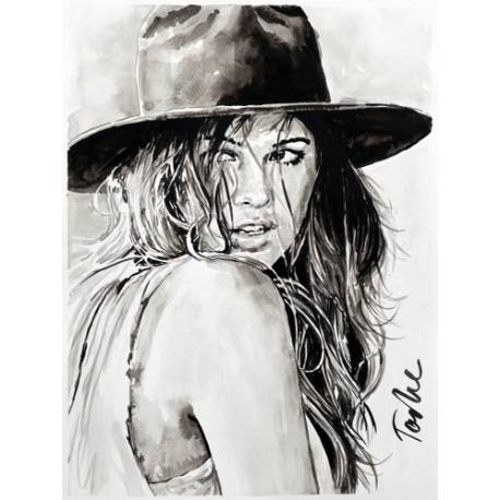 Obraz Dívky v klobouku