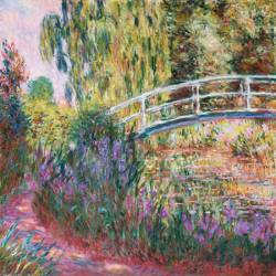 The Japanese Bridge, Pond with Water Lillies