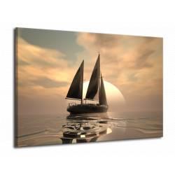 Obraz s plachetnicí