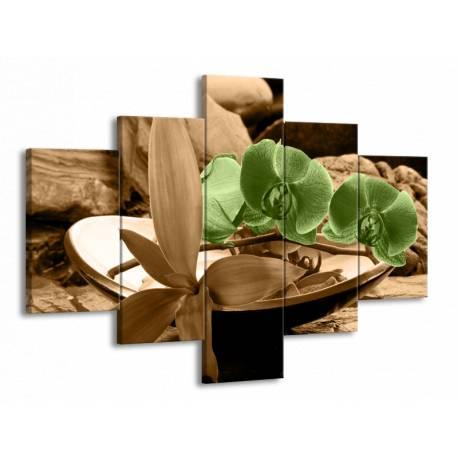 Obraz na plátně orchidej pětidílný