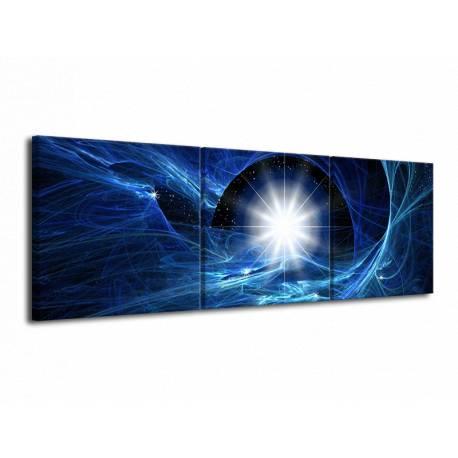 Obraz modrý abstrakt