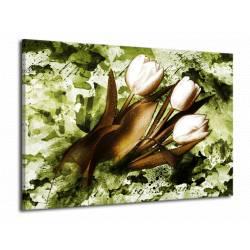 Tulipány v zeleném pozadí