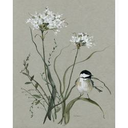 Obraz kytice s ptáčkem I