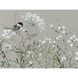 Obraz kytice s ptáčkem III