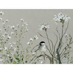 Obraz kytice s ptáčkem IV