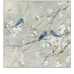 Malý ptáček v květech I