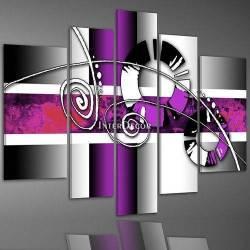 Fialový abstrakt obraz
