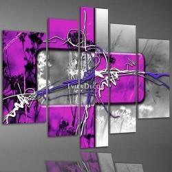 Fialový abstrakt moderní obraz