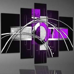 Fialový abstraktní obraz