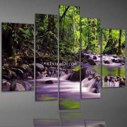 Lesní potok obraz na plátně