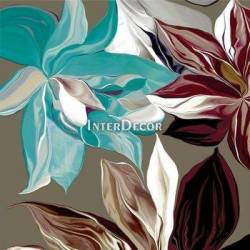 Tyrkysové květy 1 obraz do bytu