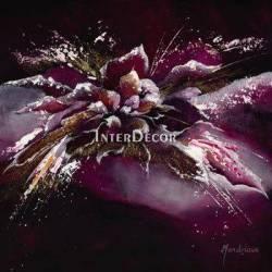 Černofialové květy 1 abstraktní obraz