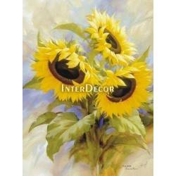 Krásná slunečnice 1 malba na desce
