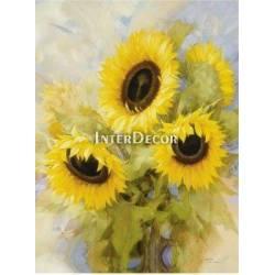 Krásná slunečnice 2 malba na desce