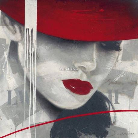 Obraz Žena v kloboku 2